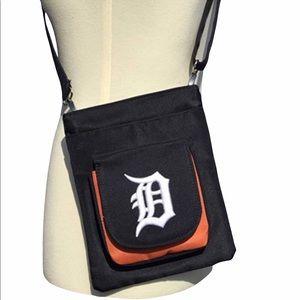 MLB Embroidered Detroit Tiger Traveler Crossbody